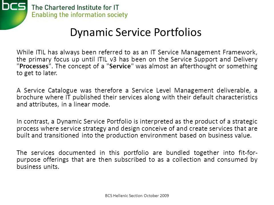 Dynamic Service Portfolios