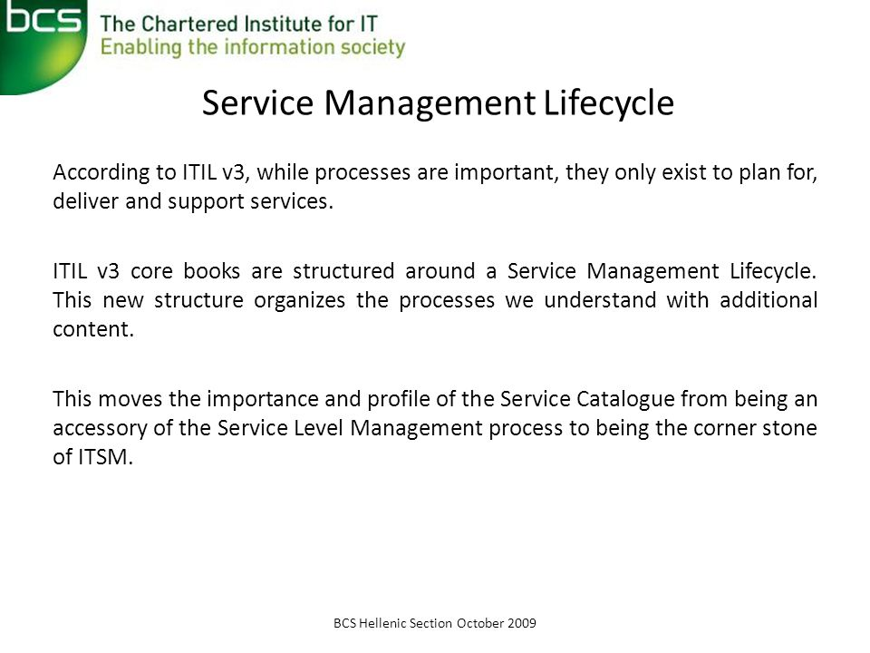 Service Management Lifecycle