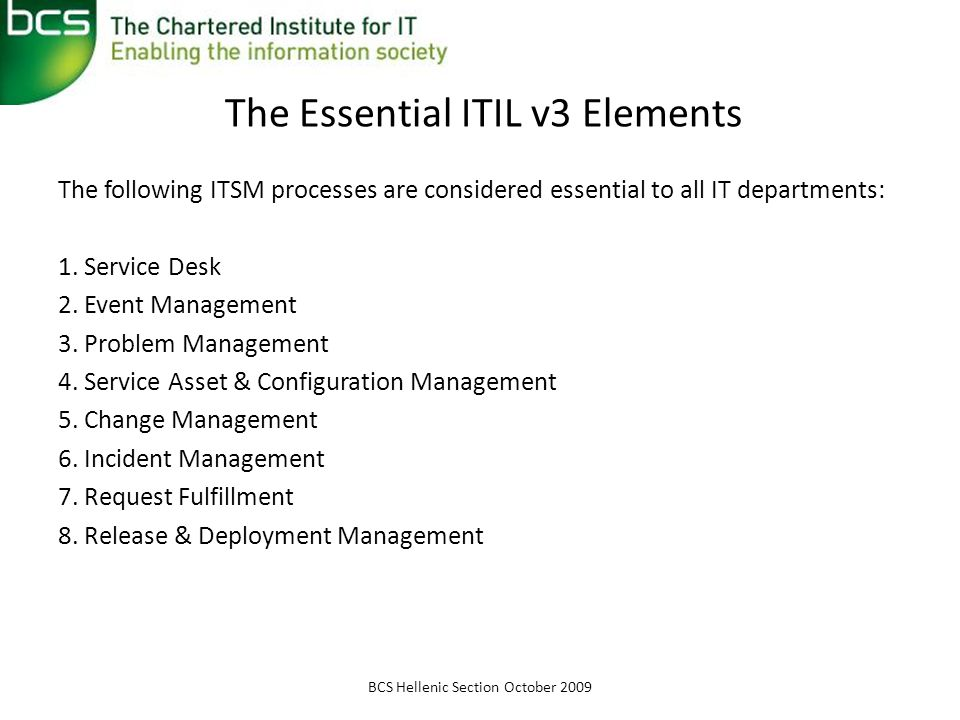 The Essential ITIL v3 Elements