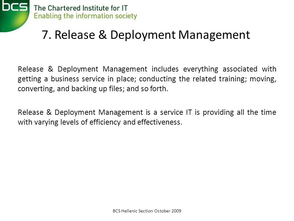 7. Release & Deployment Management