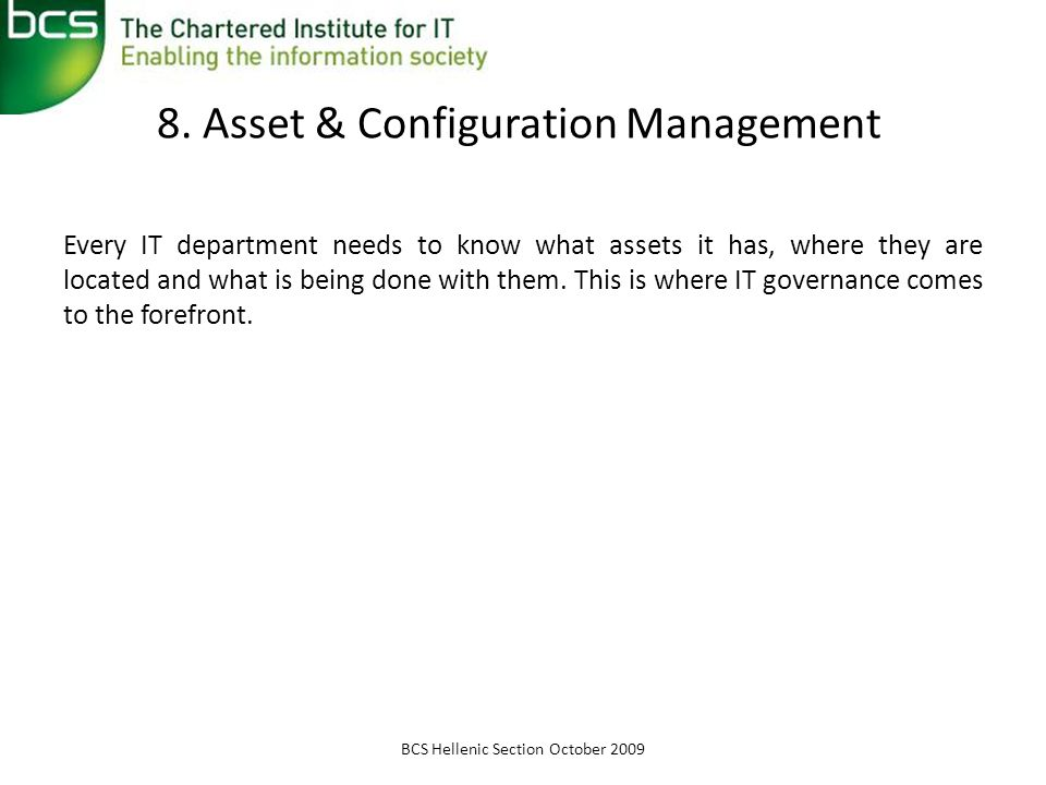 8. Asset & Configuration Management