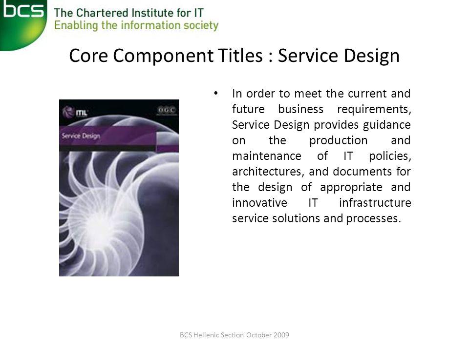 Core Component Titles : Service Design