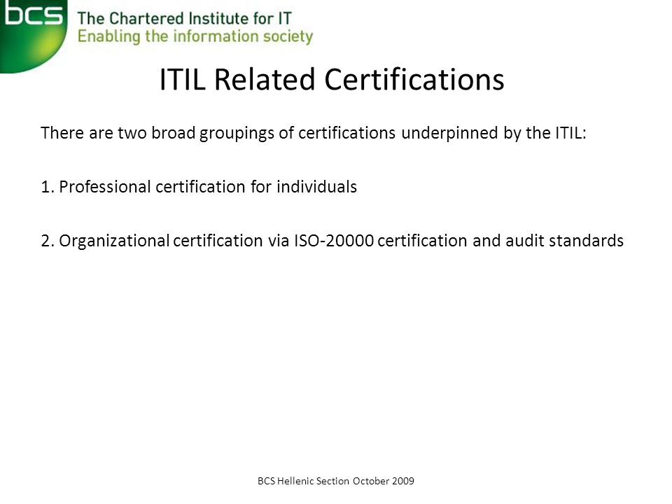ITIL Related Certifications