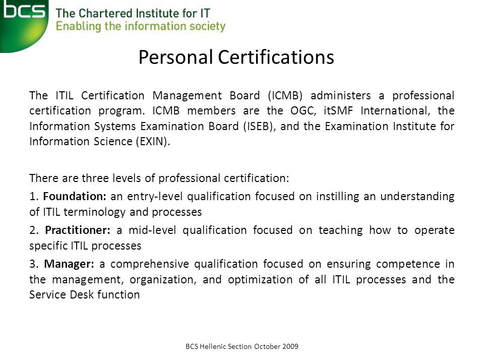 Personal Certifications