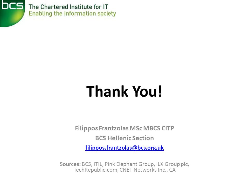 Filippos Frantzolas MSc MBCS CITP