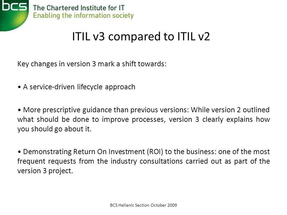 ITIL v3 compared to ITIL v2
