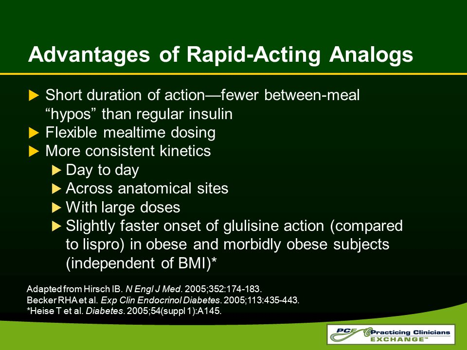 Advantages of Rapid-Acting Analogs