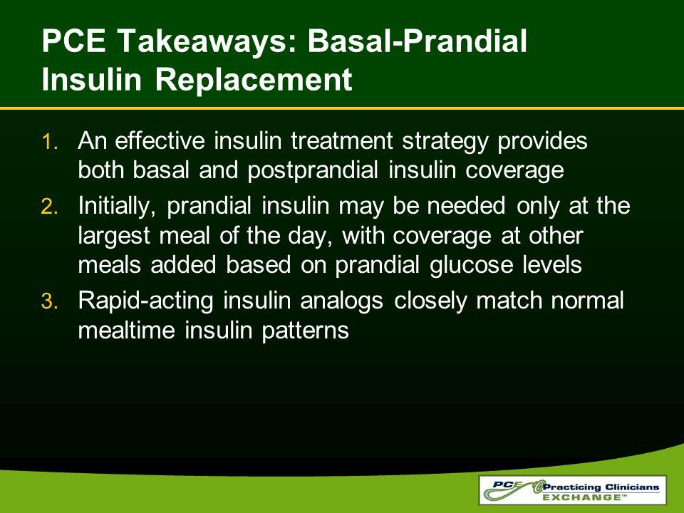 PCE Takeaways: Basal-Prandial Insulin Replacement