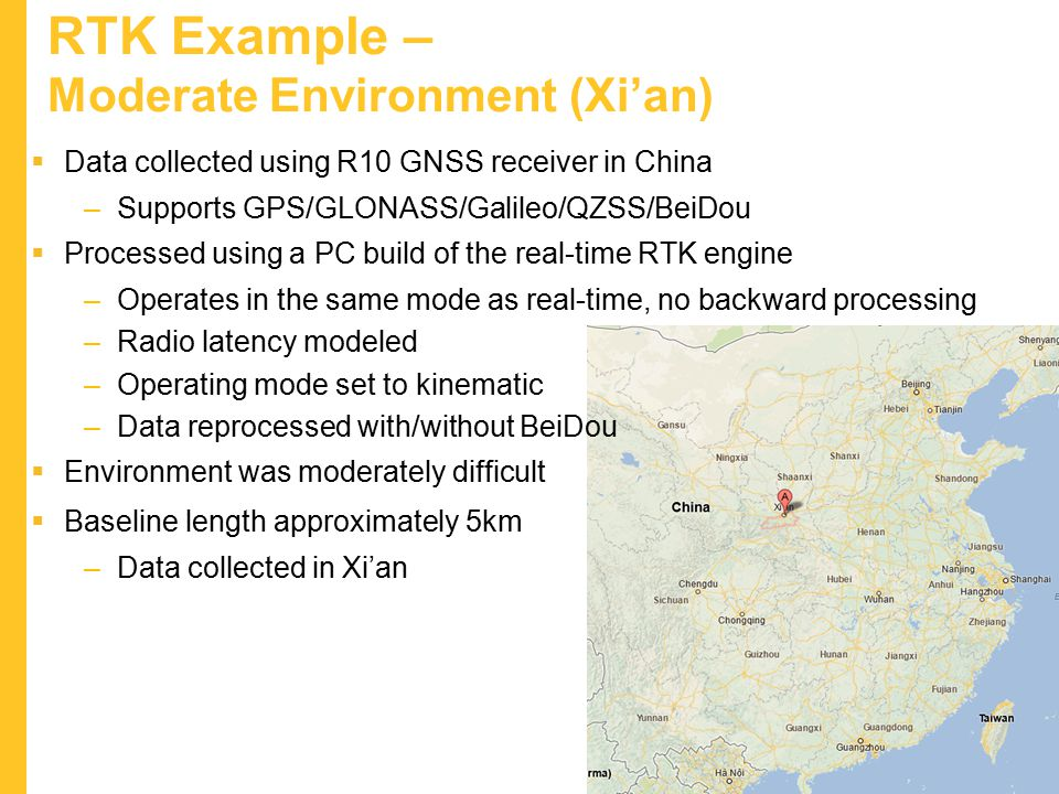RTK Example – Moderate Environment (Xi'an)