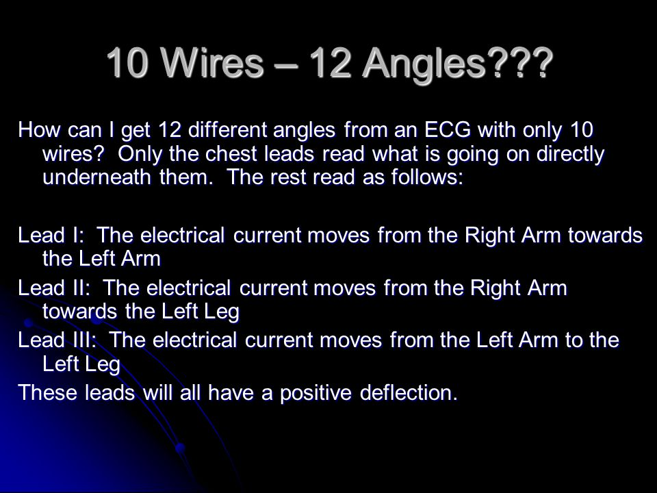 10 Wires – 12 Angles