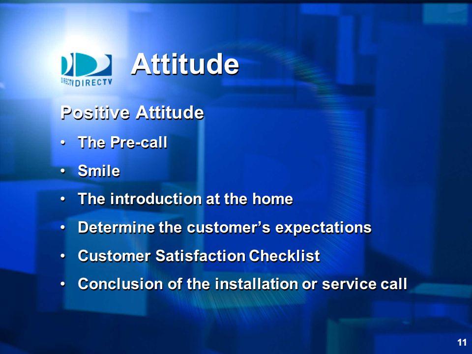 Attitude Positive Attitude The Pre-call Smile