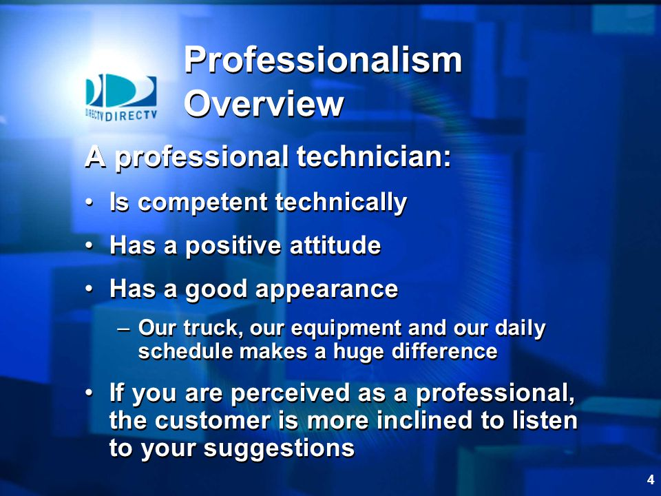 Professionalism Overview