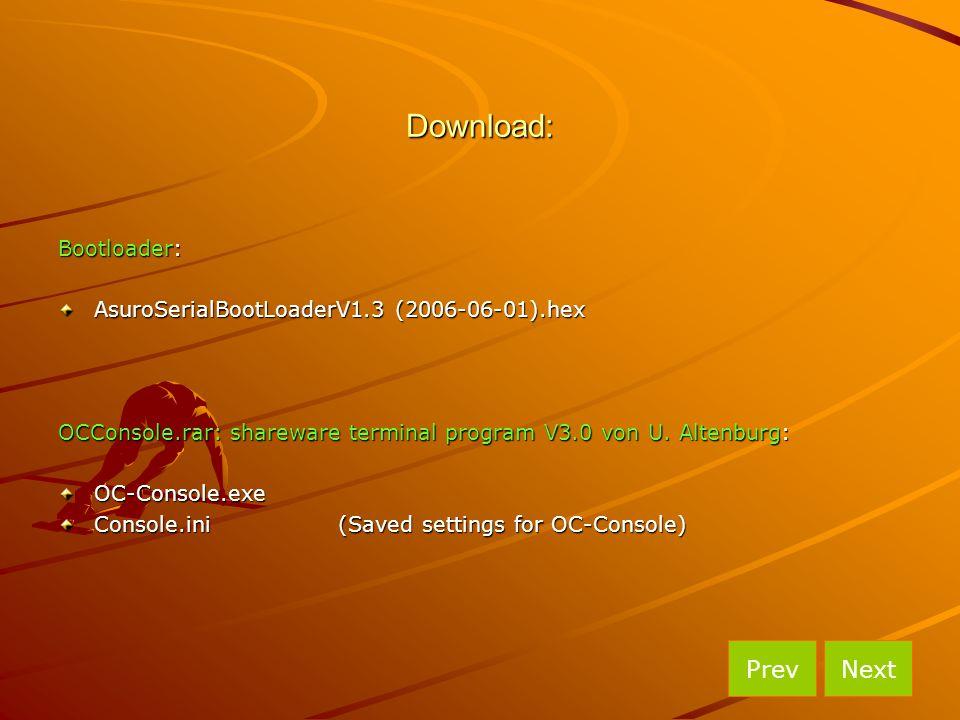 Download: Prev Next Bootloader: