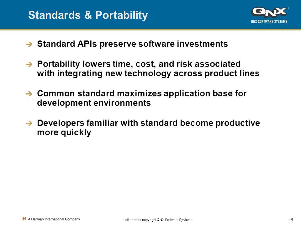 Standards & Portability