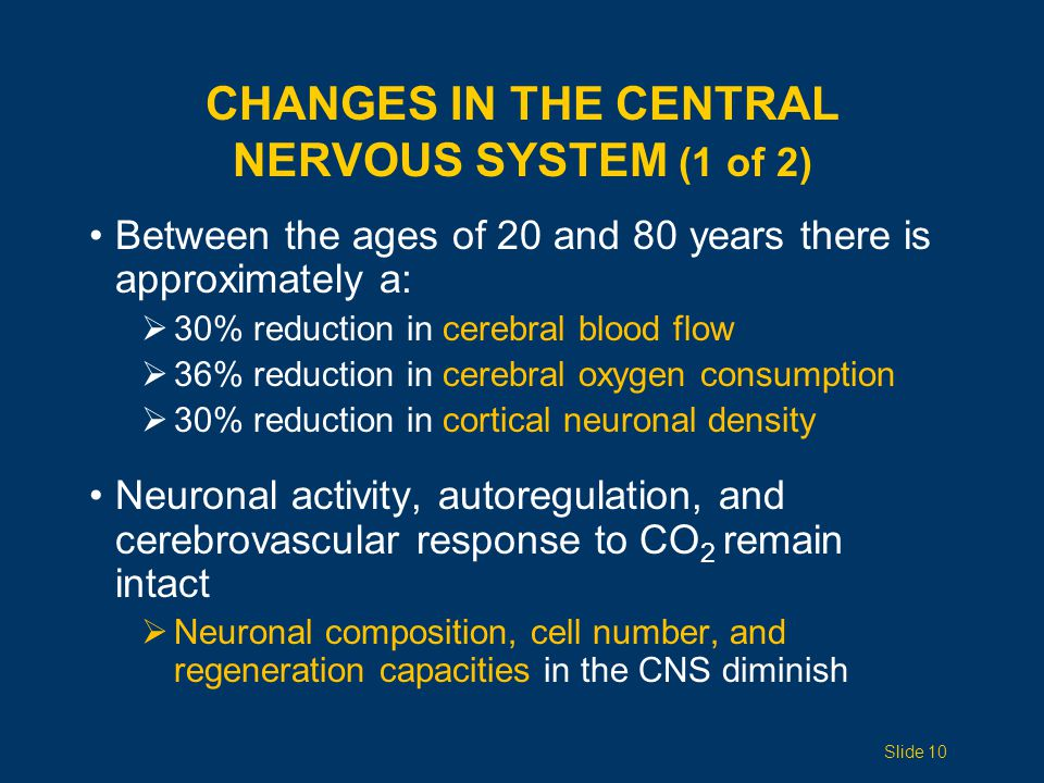 Changes in the Central Nervous System (1 of 2)