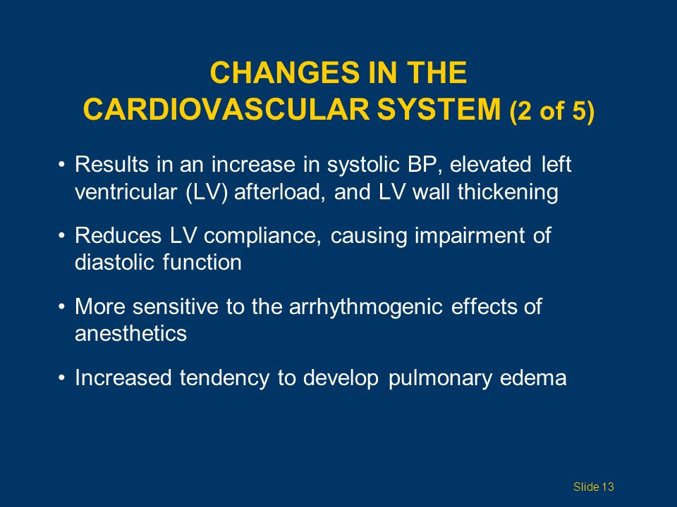 Changes in the Cardiovascular System (2 of 5)