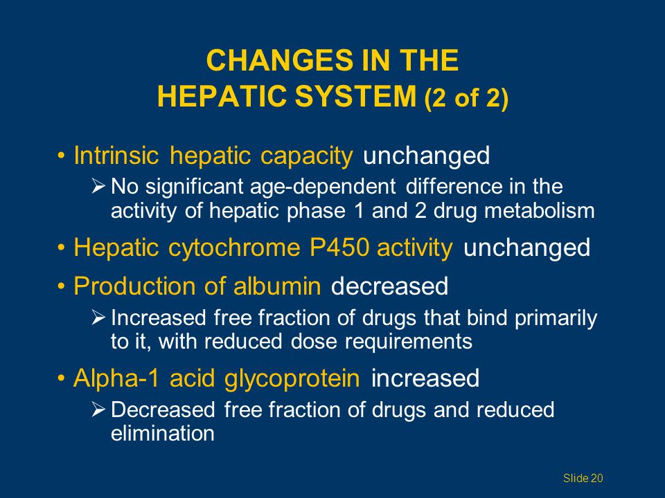 Changes in the Hepatic System (2 of 2)