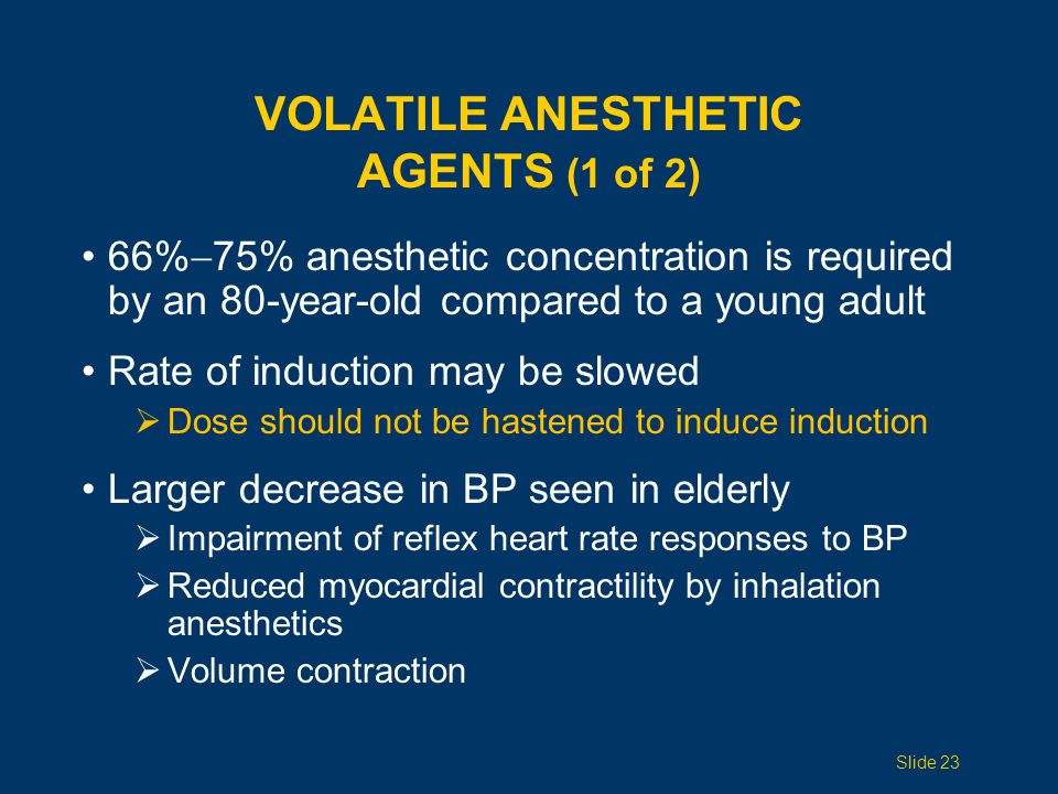 Volatile Anesthetic Agents (1 of 2)