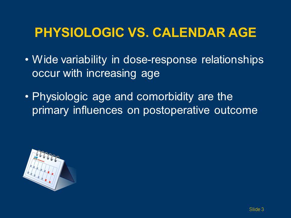 Physiologic vS. Calendar Age