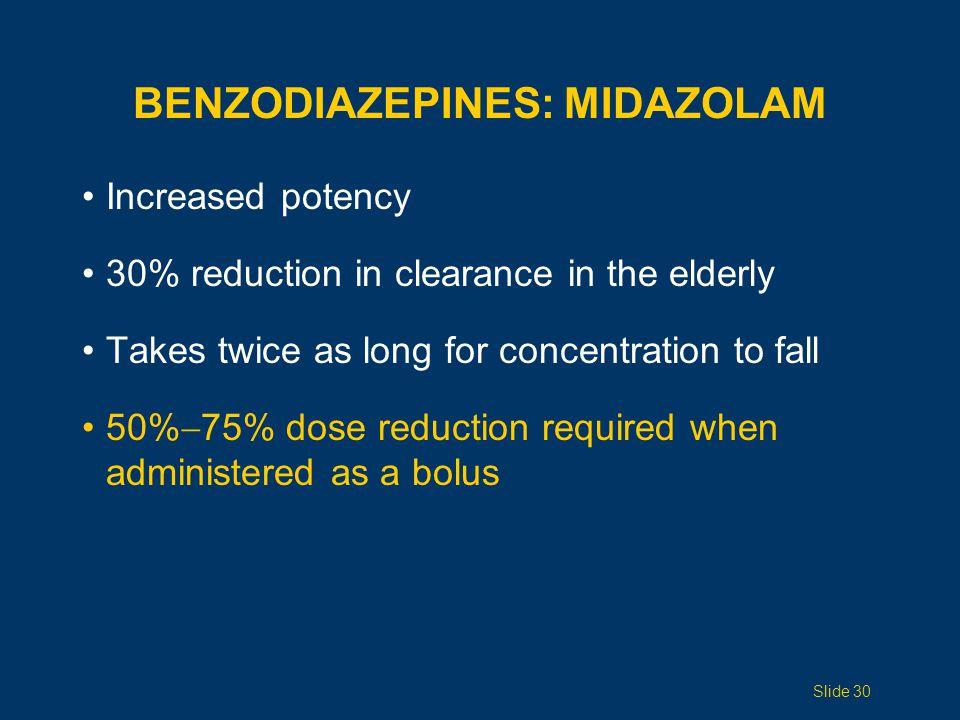 Benzodiazepines: Midazolam
