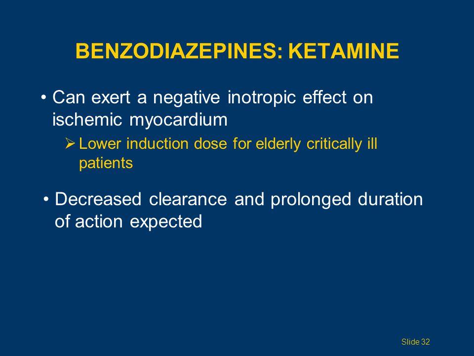 Benzodiazepines: Ketamine