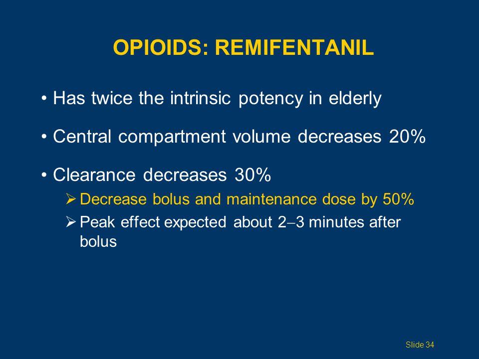 OPIOIDS: Remifentanil