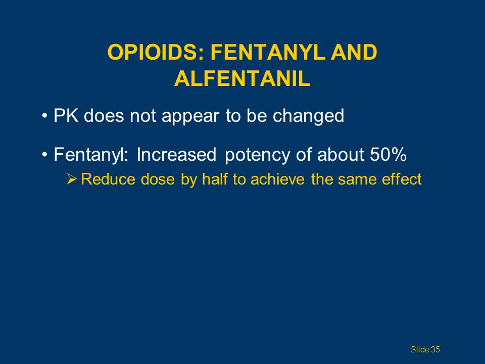 OPIOIDS: Fentanyl and Alfentanil