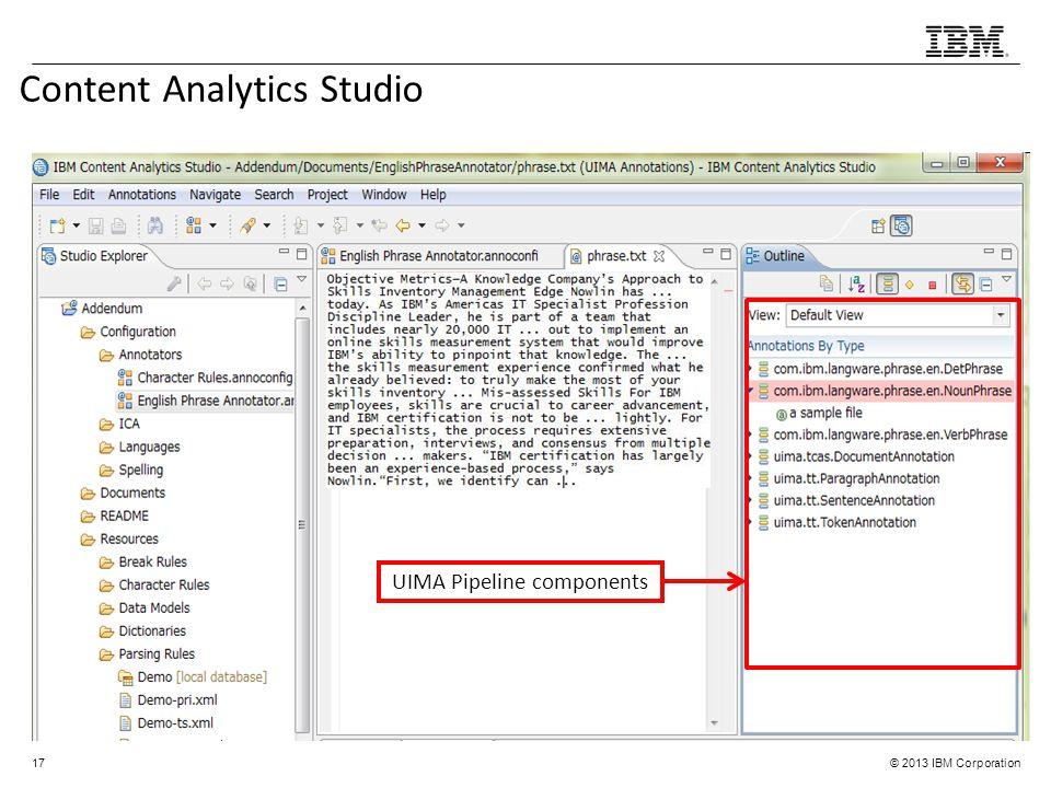 Content Analytics Studio