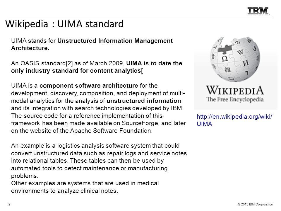 Wikipedia : UIMA standard