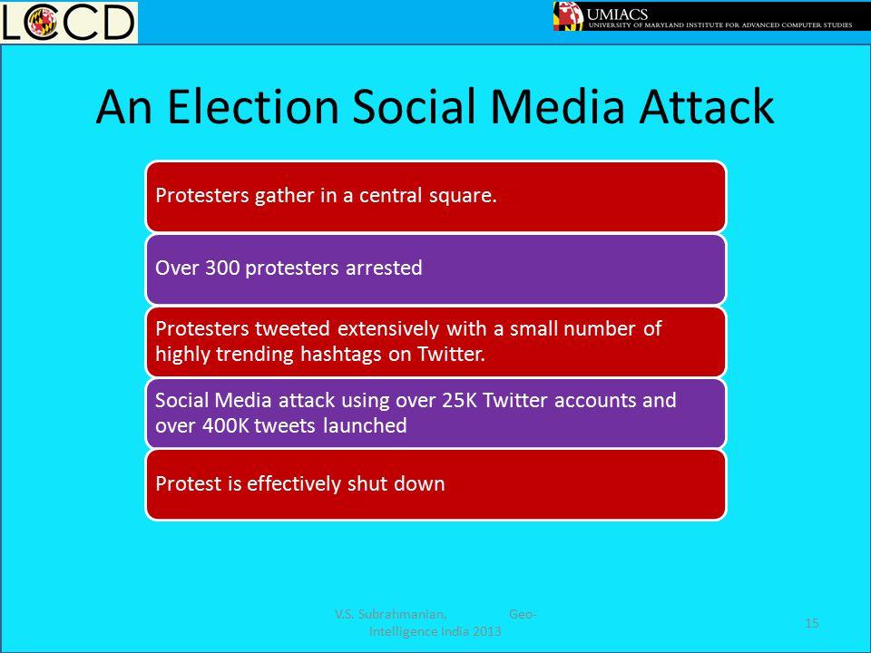 An Election Social Media Attack