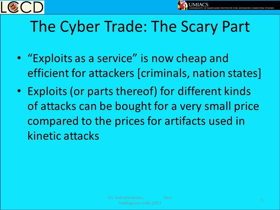 The Cyber Trade: The Scary Part