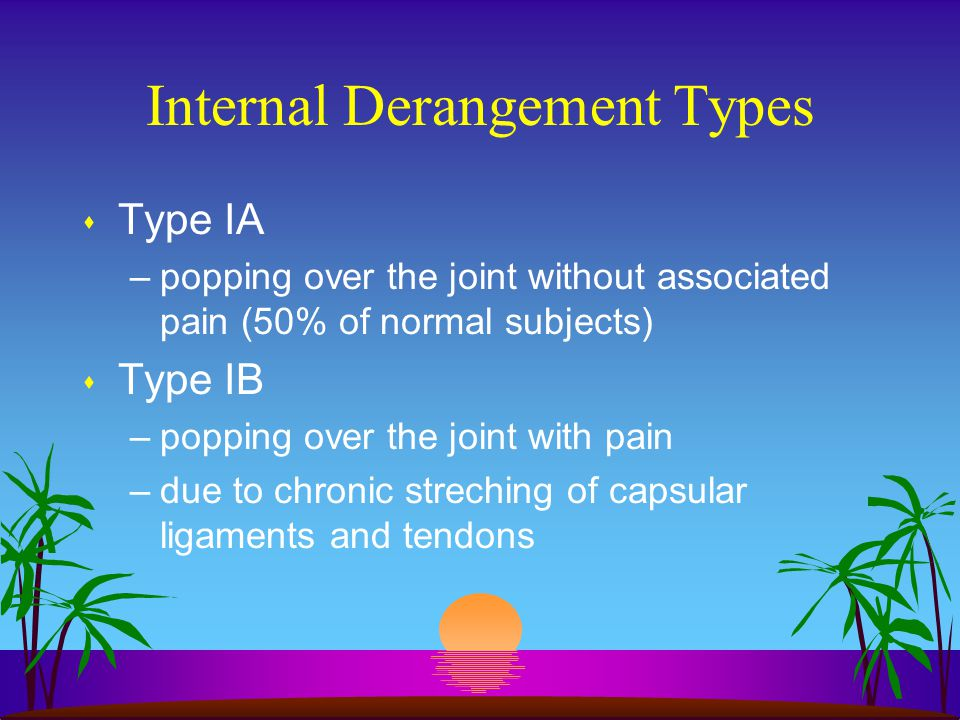 Internal Derangement Types