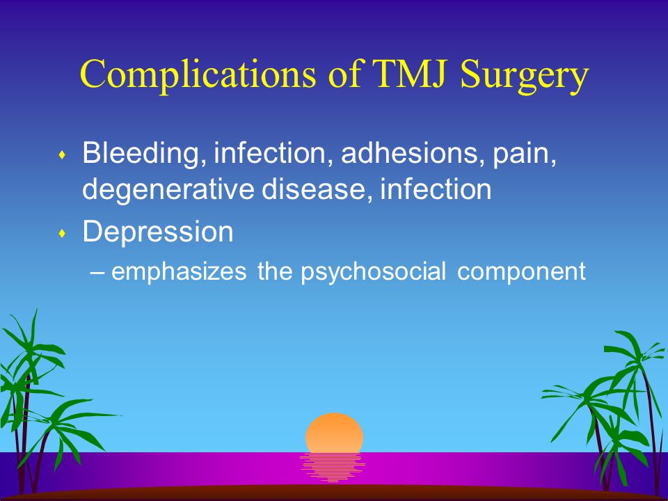 Complications of TMJ Surgery