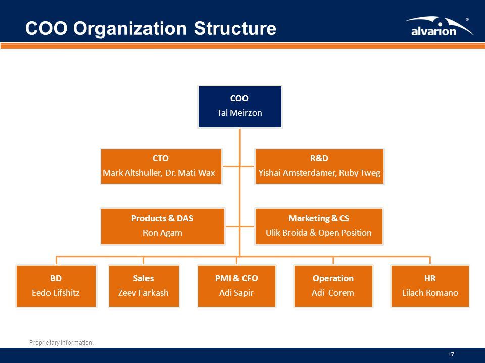 COO Organization Structure