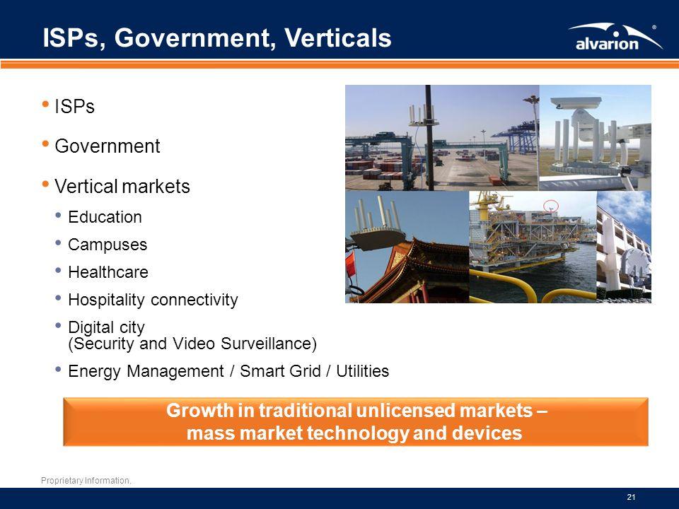 ISPs, Government, Verticals