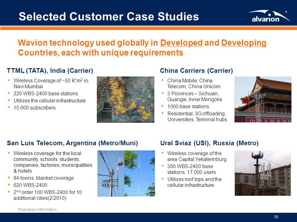 Selected Customer Case Studies