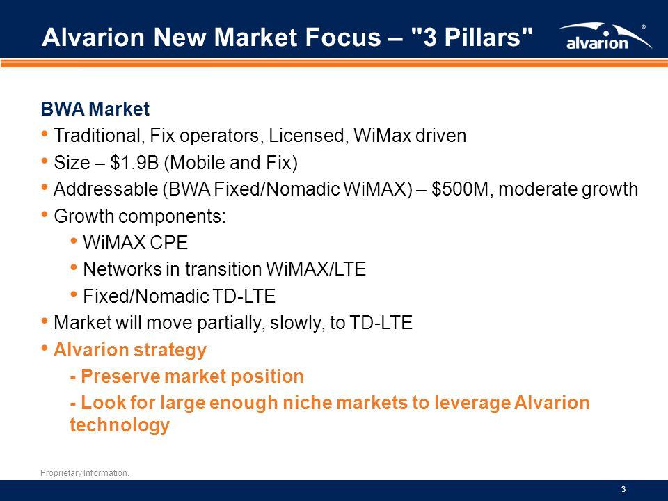 Alvarion New Market Focus – 3 Pillars