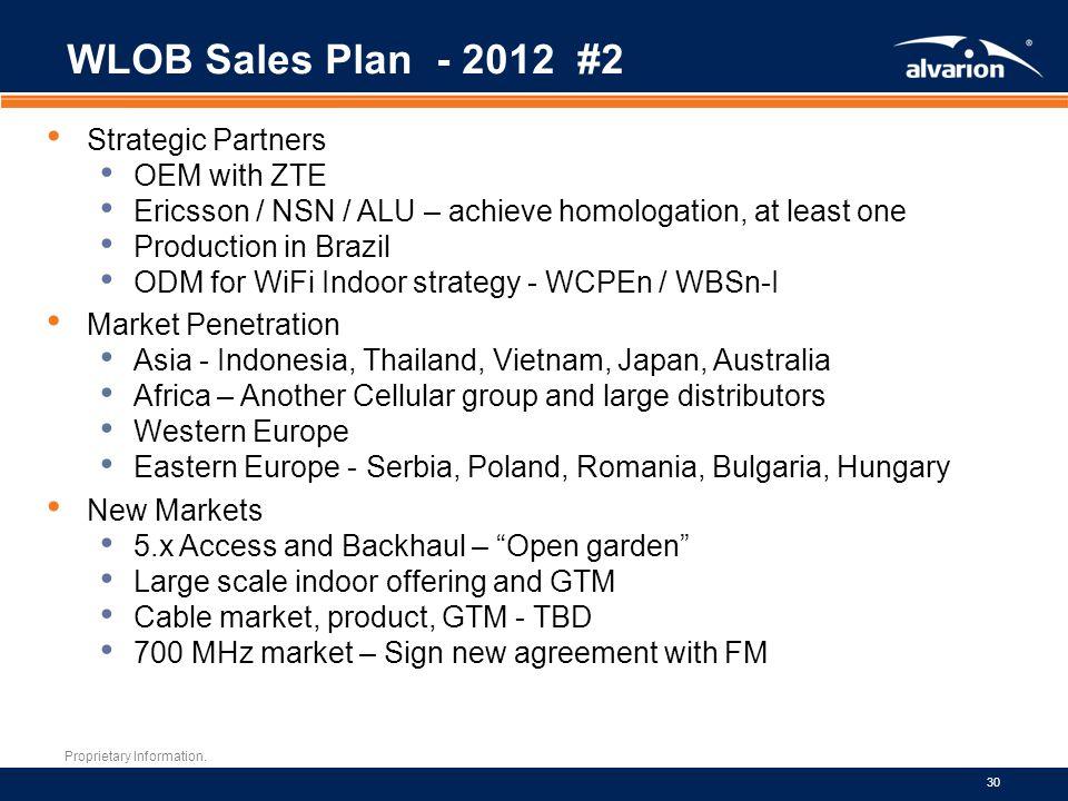 WLOB Sales Plan - 2012 #2 Strategic Partners OEM with ZTE