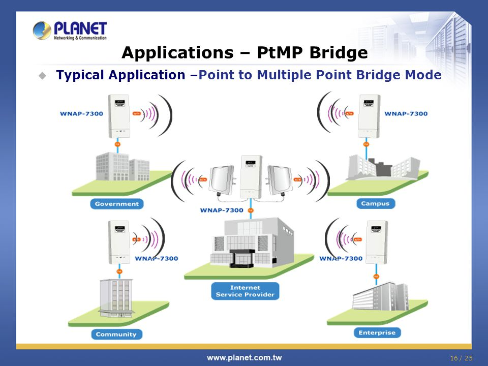 Applications – PtMP Bridge