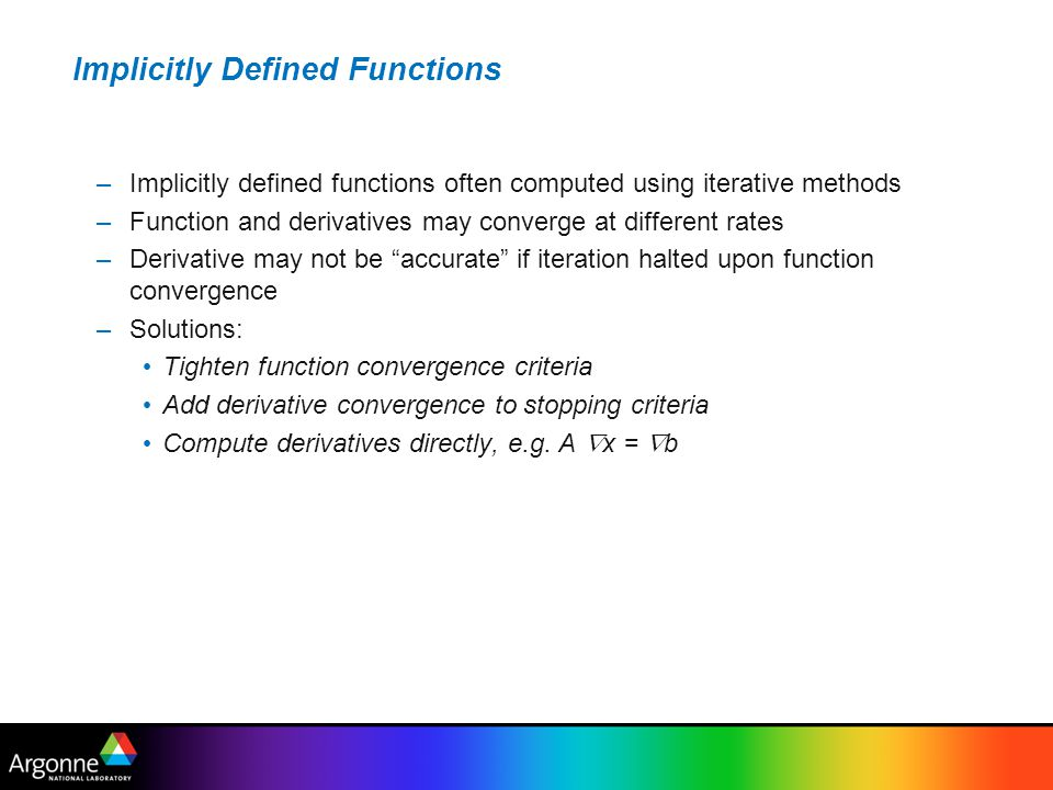 Implicitly Defined Functions
