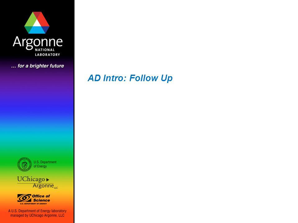 AD Intro: Follow Up