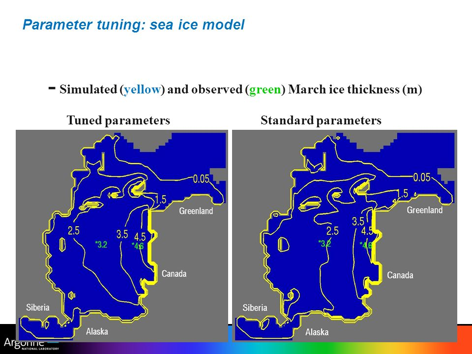 Parameter tuning: sea ice model