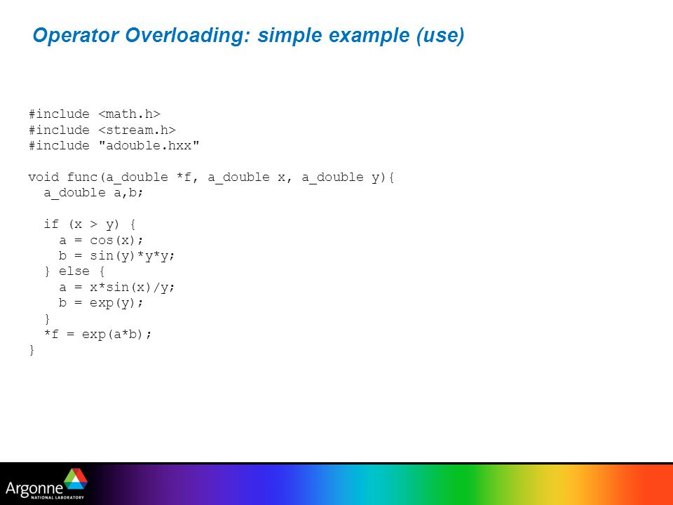 Operator Overloading: simple example (use)