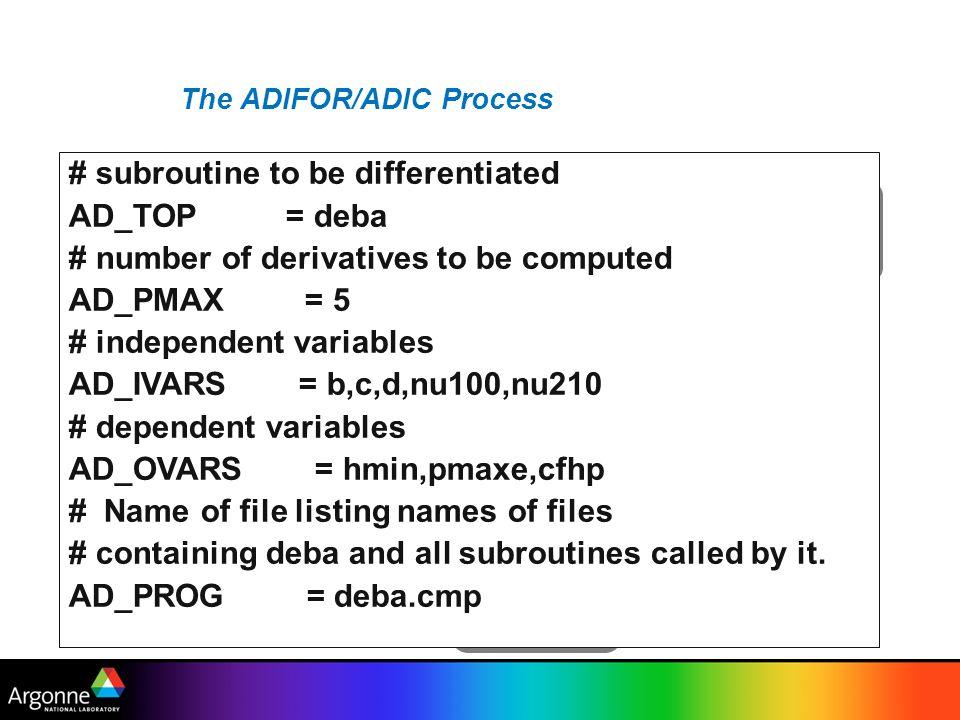 The ADIFOR/ADIC Process