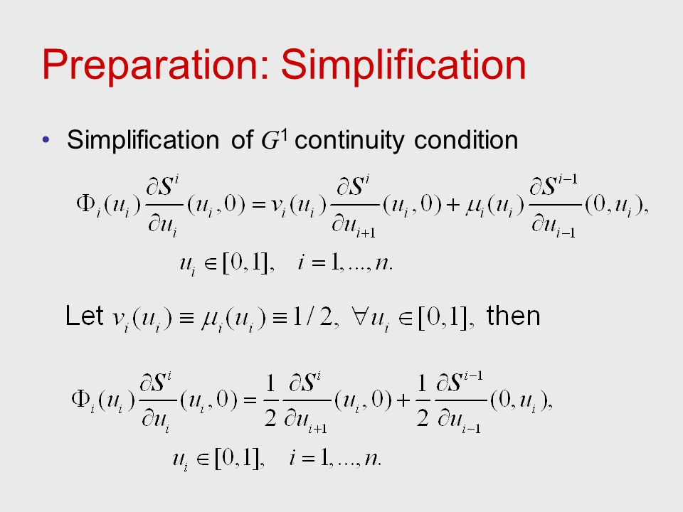 Preparation: Simplification