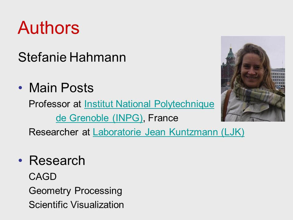 Authors Stefanie Hahmann Main Posts Research