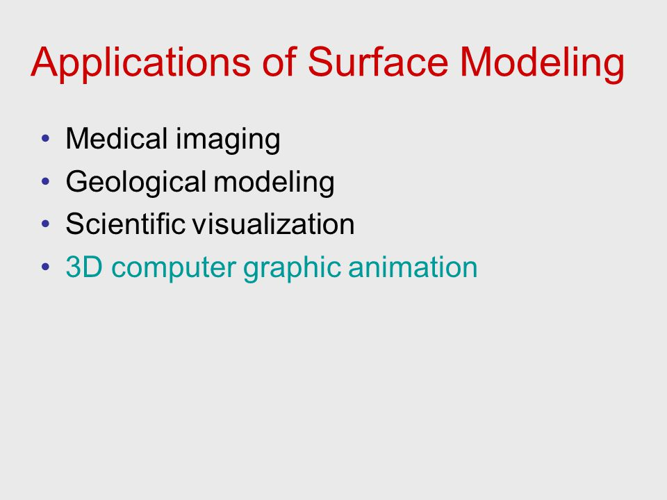 Applications of Surface Modeling