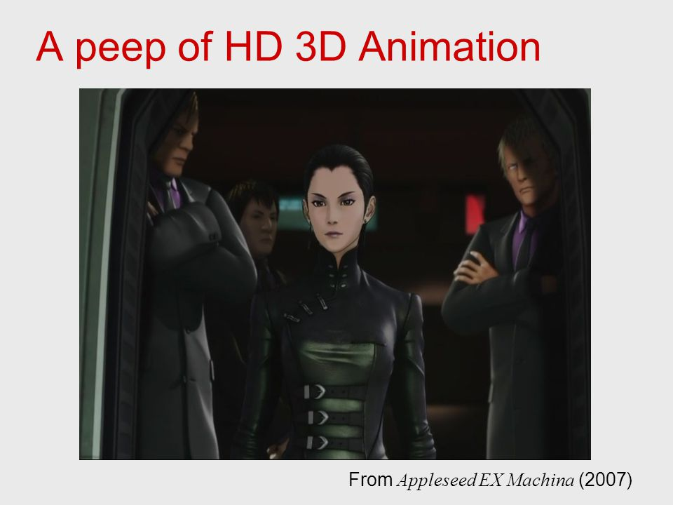 A peep of HD 3D Animation From Appleseed EX Machina (2007)