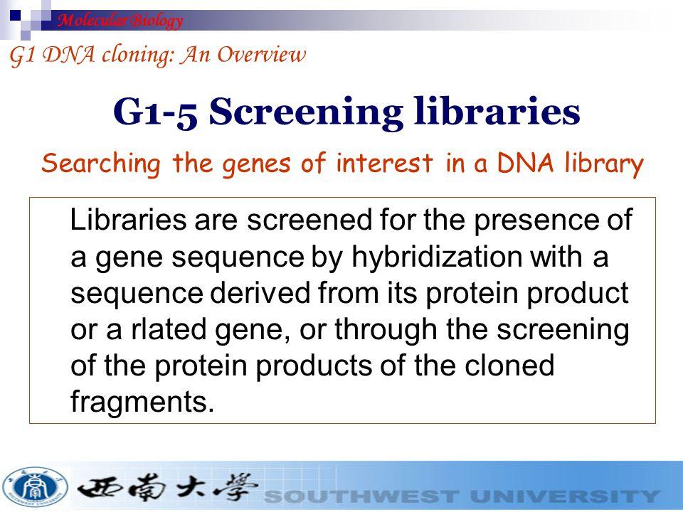 G1-5 Screening libraries