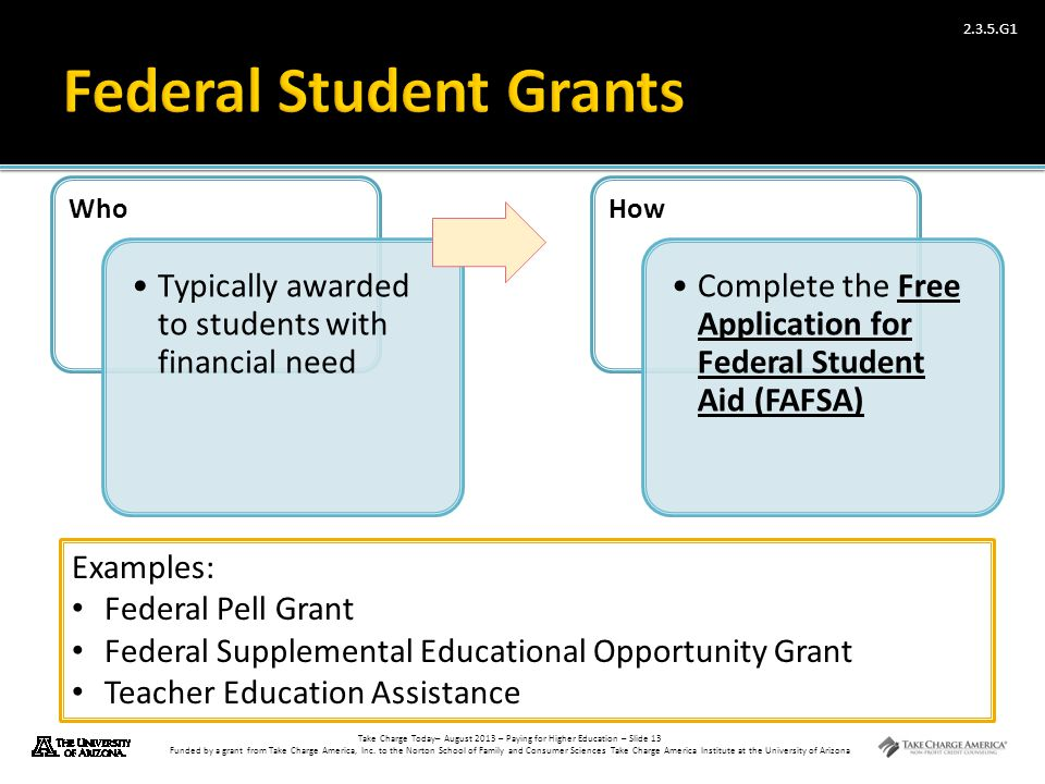 Federal Student Grants